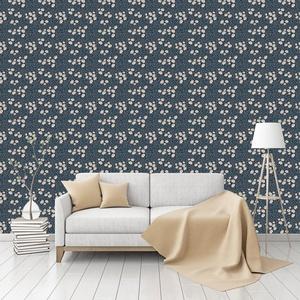 Summer Night Patterned Commercial Textured Wallpaper by CustomWallpaper.com