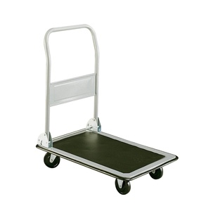 Utility Hand Truck Cart With Platform- Adjustable Collapsing Handle Easy Storage- Durable Steel Frame With 400lb Capacity- Swivel Wheels Easy Manuvering- Non Slip Surface Platform Vinyl Bumper Strong
