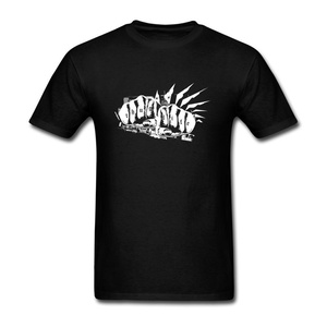 ZhiBo Men's Vintage Fists Tattoo Art Designed T-shirt Black XX-Large Man