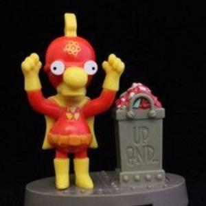 Burger King Simpsons Spooky Light Ups #11 Milhouse (Radioactive Boy) 2001 by Bk