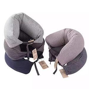 U Shaped Cotton Travel Therapy Head Neck Massage Pillow