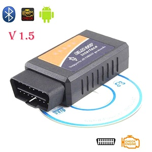 Auto-Partner Elm327 Bluetooth Adapter V 1.5 ELM 327 OBD2 OBDII Auto Diagnostic Tool Fault Code Reader Scan On Android Torque / Windows