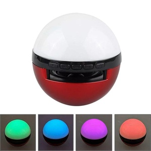 Pokemon Go Bluetooth Speaker with Colorful Flashing, Mini Portable Wireless Speaker with Build-in Microphone and Perfect Surround Sound