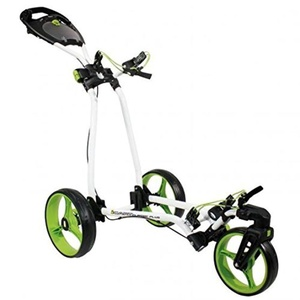 2014 Masters Golf iCart Classic Plus 3 Wheel Golf Trolley / Cart White/Green by Classic Plus