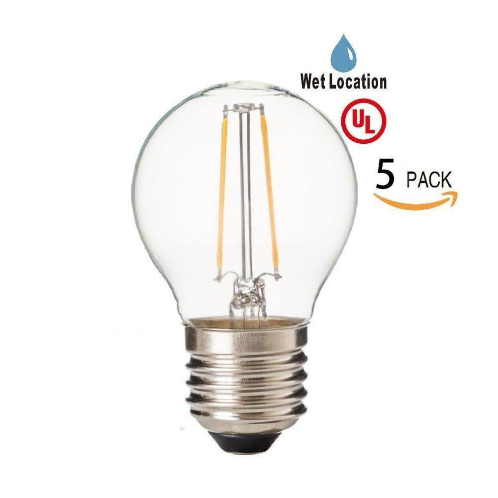 Online Store Led2020 Led G14 Globe Filament Light Bulb 120vac Daylight 5000k 2w To Replace