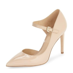 Women's D'orsay Pointed Toe Pumps with Ankle Strap High Heel Stilettos Mary Jane With Buckle 4 (nude)