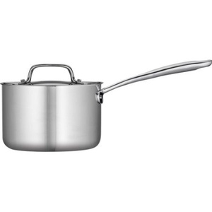 Stainless Steel Tri-Ply Clad Sauce Pan with Lid