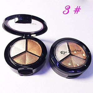 3 Colors Natural Smoky Eyeshadow Cosmetic Eye Shadow Palette Set Make Up #2