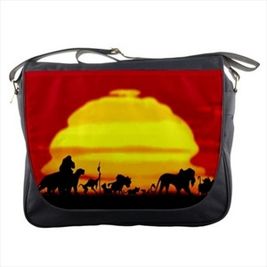 Lion King and Friends Silhouette Shoulder Messenger Bag School Bag