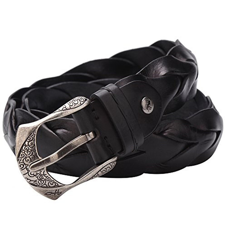 Bison Denim Men's Leather Belt Leather Belts