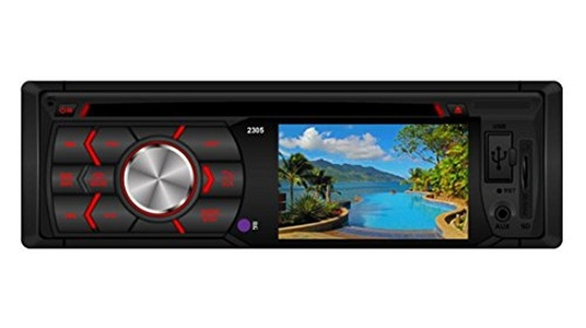 Leewos AUX Input In-Dash DVD / CD / MP3 Player FM / AM Radio Rearview Car Audio + Remote Control