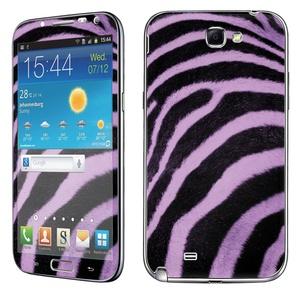 Samsung [Galaxy Note 2] Phone Skin - [SkinGuardz] Full Body Scratch Proof Vinyl Decal Sticker with [WallPaper] - [Purple Black Zebra] for Samsung Galaxy [Note 2]