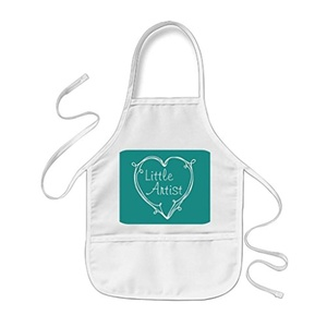 black T Children Apron Curly Personalised Kids Aprons Customize