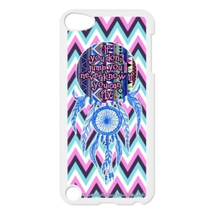Dream Catcher Back Case for iPod Touch 5 5th Gen,Waterproof Hard Plastic Cover Phone Case For Ipod Touch 5,Dream Catcher Case Cover Protector for iPod Touch 5/5th Generation (Black/White)