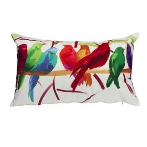 Iuhan Fashion Bird Pillow Case Sofa Waist Throw Cushion Cover Home Decor (E)