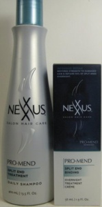 Nexxus Pro Mend Split End Binding Overnight Treatment 1.9 Oz + Shampoo 13.5 Oz by Nexxus