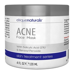Acne Face Mask - Deep Pore Cleansing Facial Treatment Mask With Salicylic Acid And Benzoyl Peroxide - Elrique Naturals Acne Facial Mask