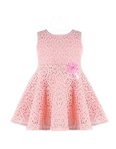 LI'L BLACK DRESS® Kids Girls Lovely Sleeveless Lace Vest Princess Dress (1-2Y, pink)