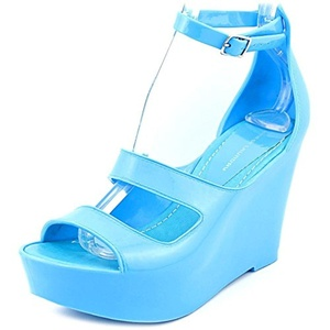 Chinese Laundry Favorite One Women Open Toe Synthetic Blue Wedge Heel