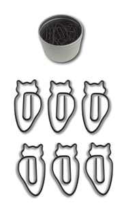 Butler in the Home Animal Brown Owl Shaped Paper Clips 50 Count in Silver Tin and Silver Gift Box Great For Paper Clip Collectors or Animal Lovers