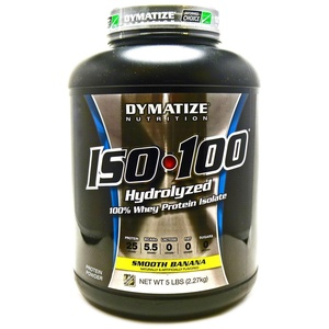 Bundle - 2 Items : 1 ISO 100 Smooth Banana by Dymatize - 5 Pounds and 1 VDC Shaker Cup