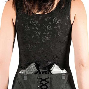 Can Can Classic Corset Holster Black - Medium