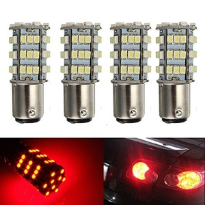 KATUR 4 x Red 1157 S25 BAY15D 1210 54-SMD LED Car Lights Bulb Backup Signal Blinker Tail Light Bulbs 12V Replacement 1016 1034 2057 7528 1157A 1178A LED Light