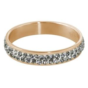 Quiges - Stacking Ring Slide-On Ring Rose Gold 19mm