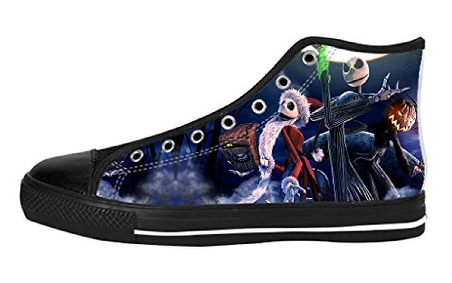 Men's High Top Full Canvas Upper Shoes Soft Inner Horrific Jack Design