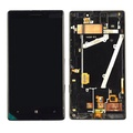 Black LCD Display screen + Touch Digitizer Assembly For Nokia Lumia 930 W/Frame