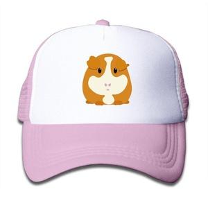 Kids Boys Girls Guinea Pig Cute Cartoon Trucker Hat Baseball Cap (3 Colors) Pink