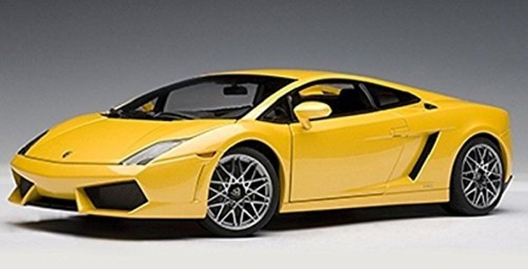 LAMBORGHINI GALLARDO LP5604 GIALLO HALYS/METALLIC YELLOWWITH OPTIONAL CORDELIA WHEELS Diecast Model Car in 1:18 Scale by Auto Art by Auto Art Diecast Car Models