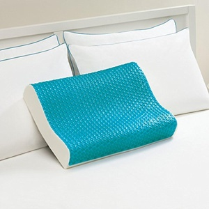 Comfort Memories Blue Bubble Antimicrobial Memory Foam and Cooloing Gel Contour Pillow
