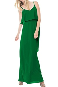MILANO BRIDE Stunning Evening Prom Dress Wedding Party Gown A-line Chiffon Long-2-Green