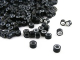 Silicone Micro Rings - 5mm / Black - For I-Tip & Feather Hair Extensions by CyberloxShop