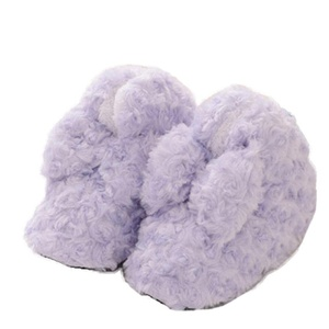 Lerela Women's Warm Plush Slip Resistant Indoor Slippers with Bownot