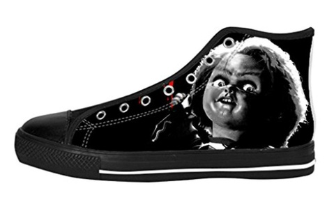 Men's High Top Full Canvas Upper Shoes Soft Inner Horrific Chucky Design