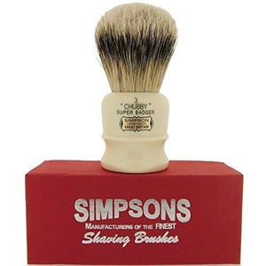 Simpson Shaving Brushes Chubby CH3 S Super Badger Handmade British Shaving Brush by Simpson Shaving Brushes