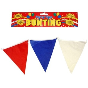 7 Metres Nylon Fabric Red White Blue 25 Pennant Triangle Flag Bunting Olympics Jubilee by Party Time