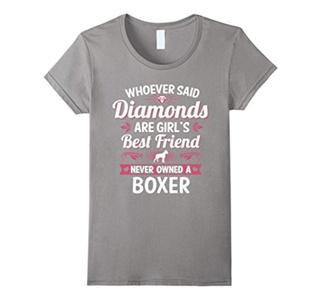 Women's Boxer Dog Best Friends Clothing Puppy Puppies T Shirt Tee Medium Slate