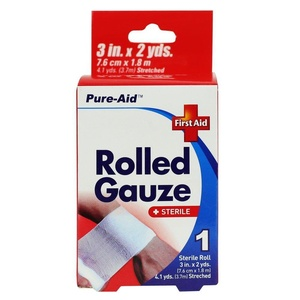 Pure-Aid Rolled Gauze 3in x 2yds-1roll (2 Pack)
