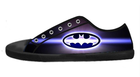 Custom Comics Hero Batman Logo Low-Top Lace-up Comfortable Canvas Shoes For Women-7M(US)