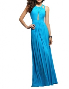 Winnie Bride New Stylish Evening Prom Dress for Women Juniors Long Party Gown-2-Sky Blue