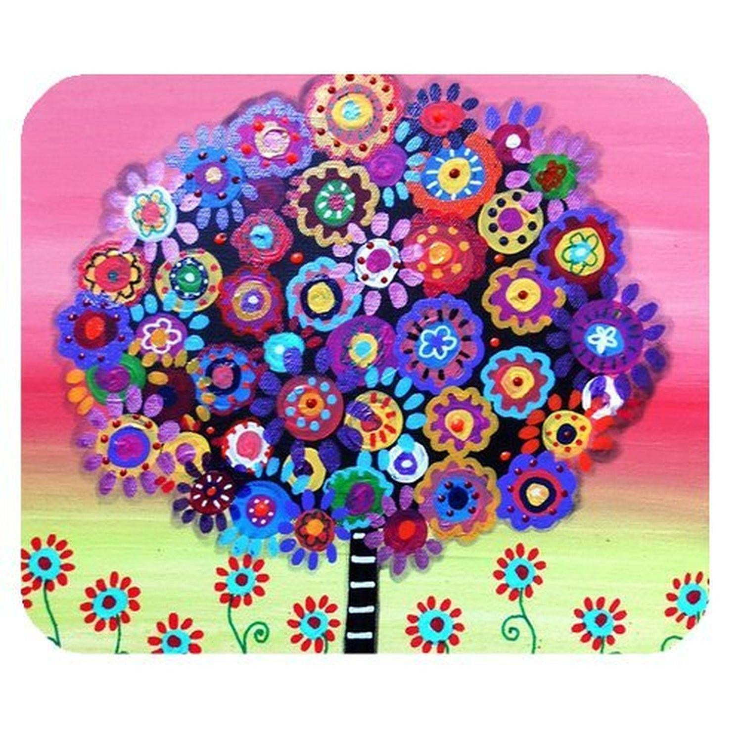 DreamOffice-Custom Tree of Life Mouse pad Gaming Mouse Mat Cloth Cover Support Wired Wireless or Bluetooth Mouse,9.84