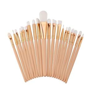 Makeup Brush, Hatop 20PCS Make Up Foundation Eyebrow Eyeliner Blush Cosmetic Concealer Brushes (White)