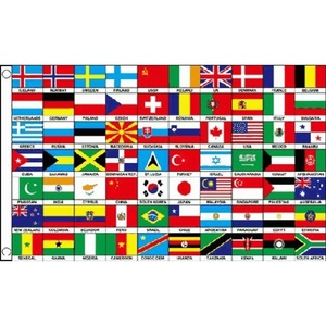 70 Nations Flag 5Ft X 3Ft Multi Nation International Country Banner New by 70 Nations