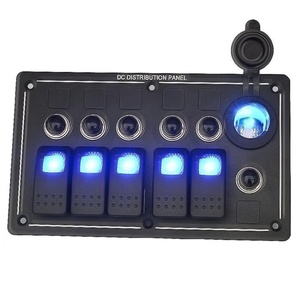 BlueFire 5 Gang Switch Panel LED Toggle Switches ON OFF Rocker Switches for Car Auto Boat Marine IP66 Waterproof Overload Protection