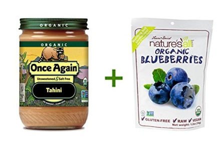 Once Again Organic Tahini -- 16 oz, (3 PACK), Nature's All Foods Organic Freeze-Dried Raw Blueberries -- 1.2 oz