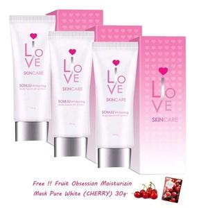 3 Units of Somju Whitening Body Serum SPF 60 pa ++ 3 Complexes Sunscreen Bleaching Glowing Brightening Skin Clear Dark Spot.[Get Free Tomato Facial Mask & Ceramine UV Line Ginkgo Plus Whitening Cream 8.50ml.]