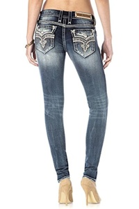 ROCK REVIVAL WOMEN'S ENA S203 SKINNY CUT JEANS (Waist 31 Length 30)